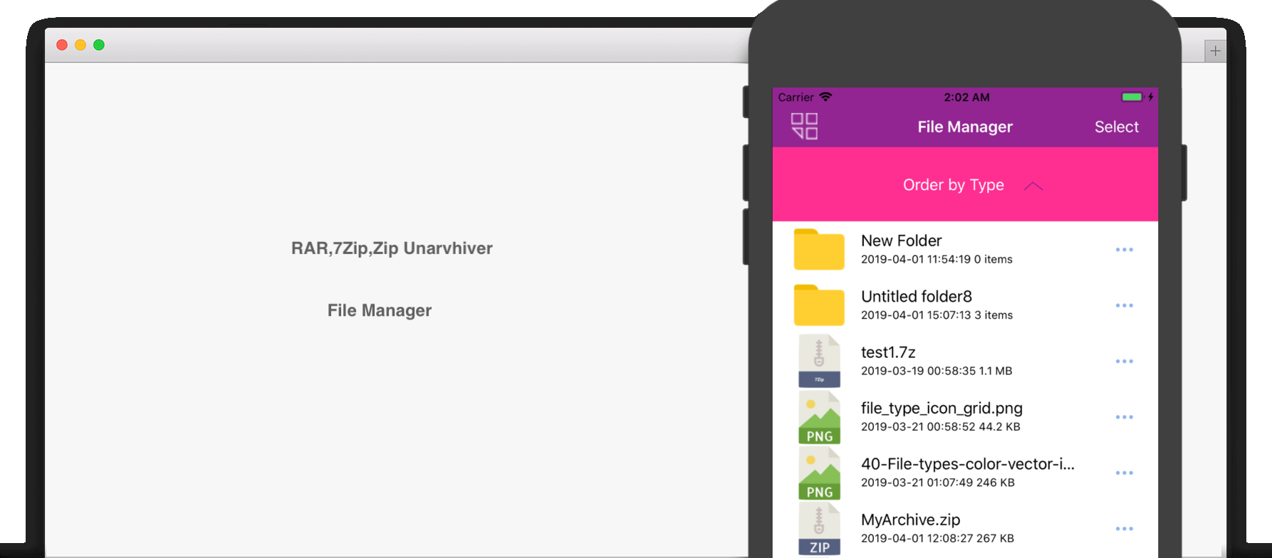 Unarchiver RAR 7Zip File Manager